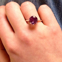 Alexandrite Basket-set Sterling Silver Ring, Color Change Alexandrite, Free Shipping, June Birthstone, Statement Ring