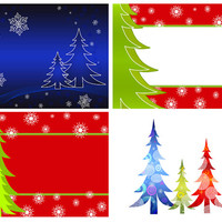INSTANT DOWNLOAD - Set of digital Christmas background designs with 4 different designs for art project.