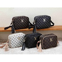 LV Louis Vuitton Women Shopping Chain Leather Crossbody Satchel Shoulder Bag
