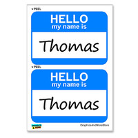 Thomas Hello My Name Is - Sheet of 2 Stickers