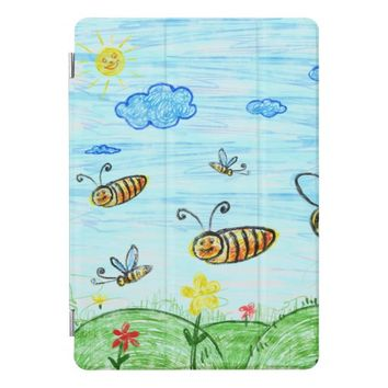 Blue Green Summer Doodles iPad Pro Cover