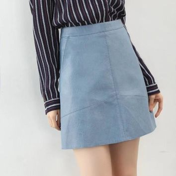 PU faux leather skirt