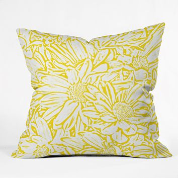 Lisa Argyropoulos Daisy Daisy In Golden Sunshine Throw Pillow