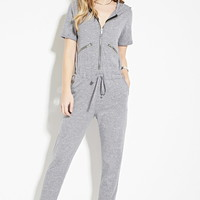 Hooded Zip-Front Jumpsuit | Forever 21 - 2000141564