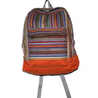 Multi-color Hand-woven Nepal Backpack