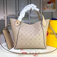 HCXX 1586 Louis Vuitton LV Double design Hina Mahina Big Handbag Khaki