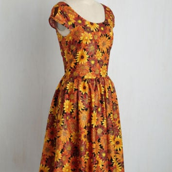 Autumn Leaf Festival Dress | Mod Retro Vintage Dresses | ModCloth.com