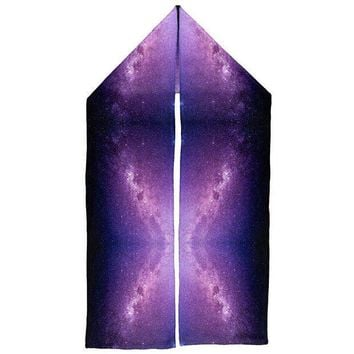 ESBGQ9 Halloween Galaxy Space Stars Warm Fleece Scarf