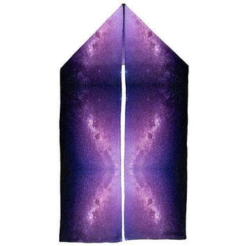ICIK8UT Halloween Galaxy Space Stars Warm Fleece Scarf