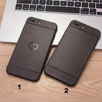 Fashion Simple heart mobile phone case for iPhone X 7 7plus 8 8plus iPhone6 6s plus -171209