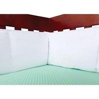 White Percale Crib Bumpers