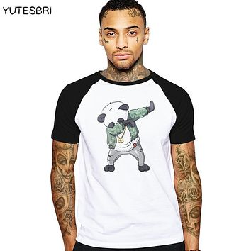 Swag Dabbing Unicorn / panda / Son Goku Dab T Shirt men summer T- shirt men funny design cotton brand clothing Hip Hop clothes