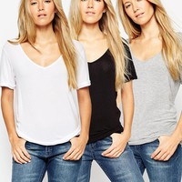 ASOS Forever T-shirt 3 Pack SAVE 17%