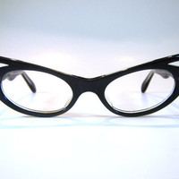 50's Xtreme Pointy French Cat Eye Eyeglass by BackThennishVintage