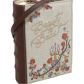 Disney Beauty And The Beast Embroidered Book Clutch