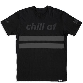 Black Chill AF T-Shirt | Electric Family Clothing