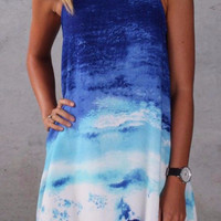 Cupshe Coastline Sea Wave Loose Dress