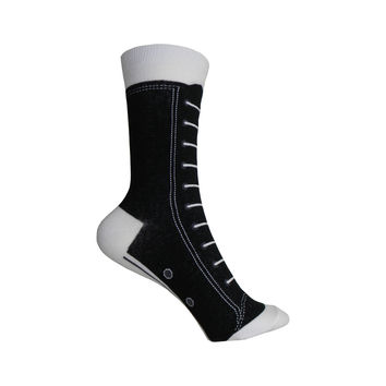 High Top Sneakers Crew Socks in Black