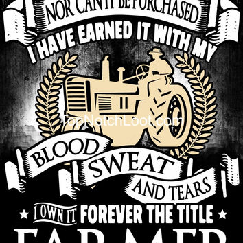 """""""Forever the Title Farmer"""" Vinyl Decal Sticker (5"""" tall)"""