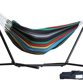 Vivere's Combo - Double Rio Night Hammock with Stand (9ft) new