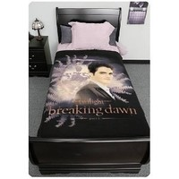 Twilight Breaking Dawn Blanket - Edward With Crest And Ferns - 50'' x 60''