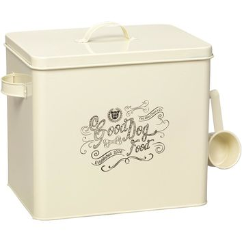 House Of Paws Country Kitchen Dog Food Container (l; Cream)