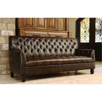 Abbyson Living Revello Bonded Leather Sofa U0026 Reviews | Wayfair