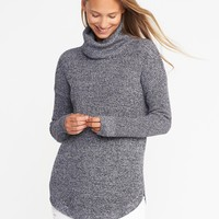 Textured Turtleneck Tunic for Women | Old Navy