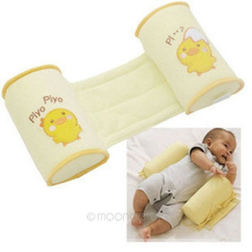 Safe Cotton anti-roll baby pillow infant Toddler correct the flat head sleep (Color: Yellow) = 1929933700