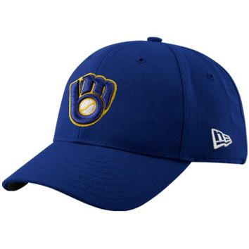 Men's Milwaukee Brewers New Era Royal League 9FORTY Adjustable Hat