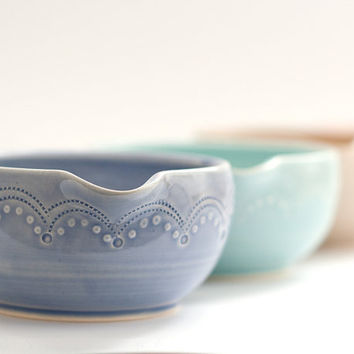 Small Batter Bowl - Mixing Bowl - Stitch - Cobalt
