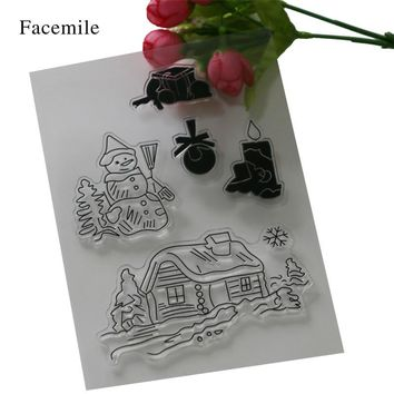 New Arrival Christmas Transparent Clear Stamps For DIY Scrapbooking/Card Making/Kids Fun Decoration Supplies YS060 Gift