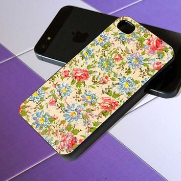 pink, green, blue and purple floral TOUGH - iPhone 4 / iPhone 4S / iPhone 5 / Samsung S2 / Samsung S3 / Samsung S4 Case Cover