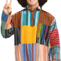 adult costume: patchwork shirt
