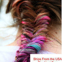 Lauren Conrad Inspired Ombre Colored Tips - Itip / Utip -Prebonded Extension- Dip Dyed - Fishtail Braids- FREE PEOPLE