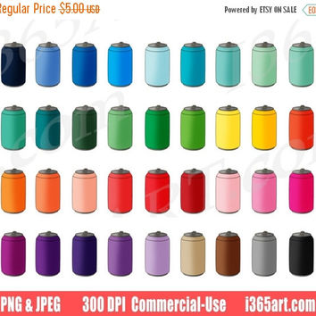 50% OFF Sale Soda Can Clipart, Drink Cans Clip Art, Beverage, Pop, Beer, Aluminum, Planner Sticker Graphics, Scrapbooking, PNG, Commercial