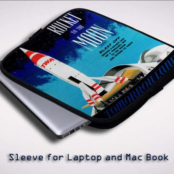 Disney Tomorrowland Rocket to the Moon Z0697 Sleeve for Laptop, Macbook Pro, Macbook Air (Twin Sides)