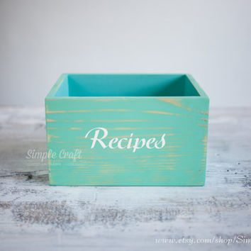 Rustic recipe box Recipe card holder customized recipe box recipe box wood wooden recipe cards box large recipe box bridal shower recipe box