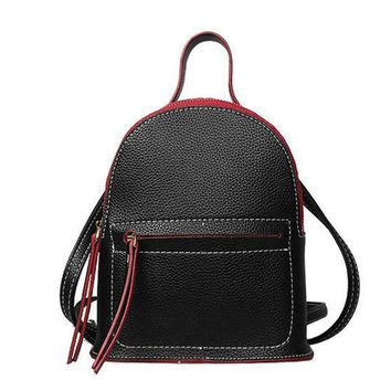 fashion mini Women's pu Leather backpacks mujer women Schoolbackpacks for teenage girls Small Shoulder bag Ladies travel Bags