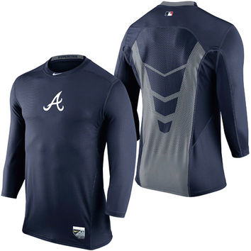 Atlanta Braves AC Dri-FIT Hypercool 3/4 Top - MLB.com Shop