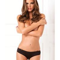 Rene Rofe Black Magic Crotchless Open Back Panty Black M-l