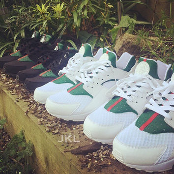 JUNIOR Nike Huarache 'Guccihuarache' custom.