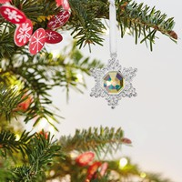 Mini Elegant Snowflake Metal Ornament, 1.3