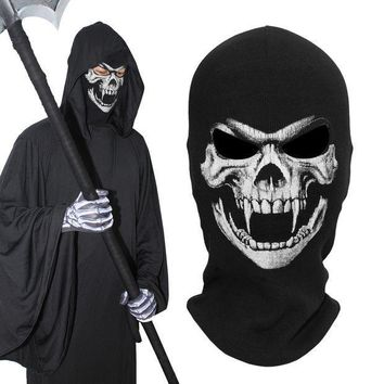 ESBON Ther Fangs Death Grim Reaper Ghost Skull Tactical Army Military Cosplay Costume Balaclava Halloween  Party Winter Full Face Mask