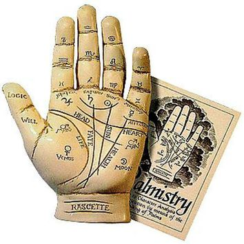 Beginners Palm Reading Fortune Telling Hand Sculpture