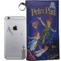 Disney's Peter Pan Holding Logo Clear Case For Apple Iphone + Pouch (iPhone 5 / 5s / SE, 6/6s. 6/6s PLUS)