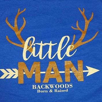 Backwoods Born & Raised Lil Man Deer Arrow Bright Unisex Toddler Youth T Shirt
