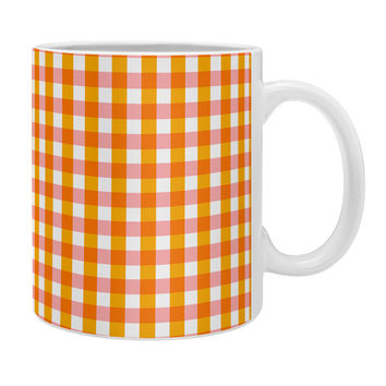 Caroline Okun Peachy Gingham Coffee Mug