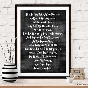 THE LORDS PRAYER Art Print