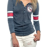 New England Patriots Womens Vintage Raglan Top | SportyThreads.com